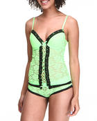 Intimates & Sleepwear - Allover Lace Camisole Boyshort Set