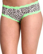 Intimates & Sleepwear - Leopard Print Neon Lace Trim Cheeky Short