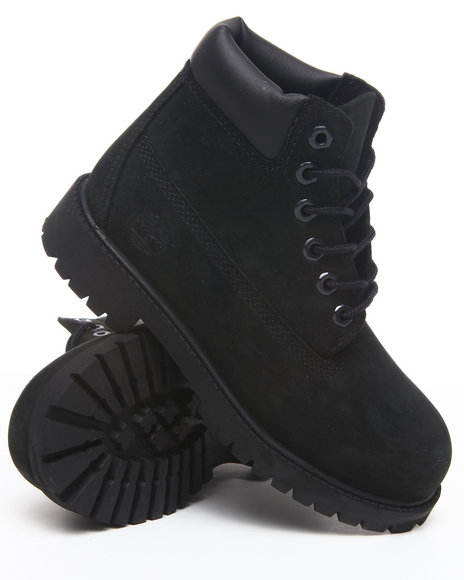 Timberland Boys Black 6 Inch Classic Boots (Kids)