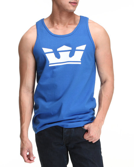 Supra Men Blue Icon Tank