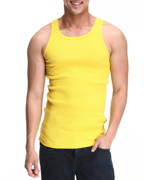 Men Fitted Design Tank Tops
