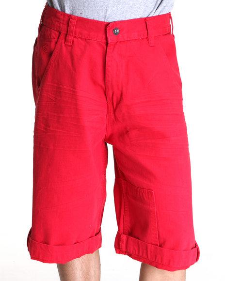 Rocawear Men Red Colored Americano Denim Shorts