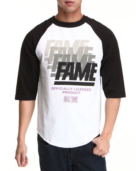 Hall of Fame Black Fade Raglan