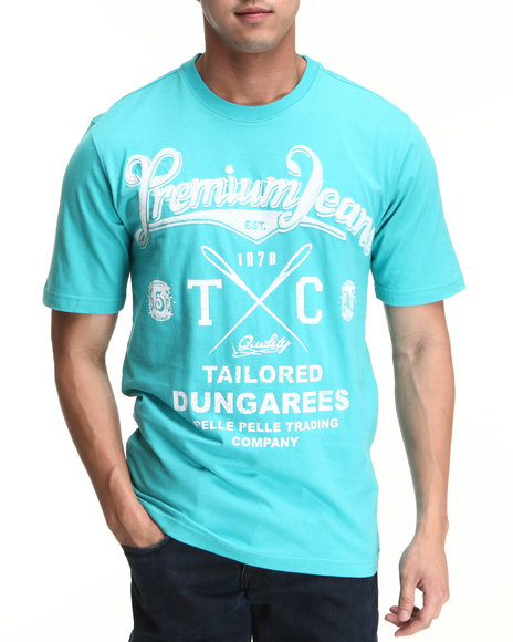 Pelle Pelle Men Light Blue S/S Premium Jeans Tee