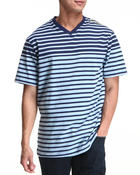 Men - Stripe S/S V-Neck Tee