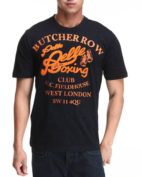 Pelle Pelle Men Navy S/S Butcher Row Tee