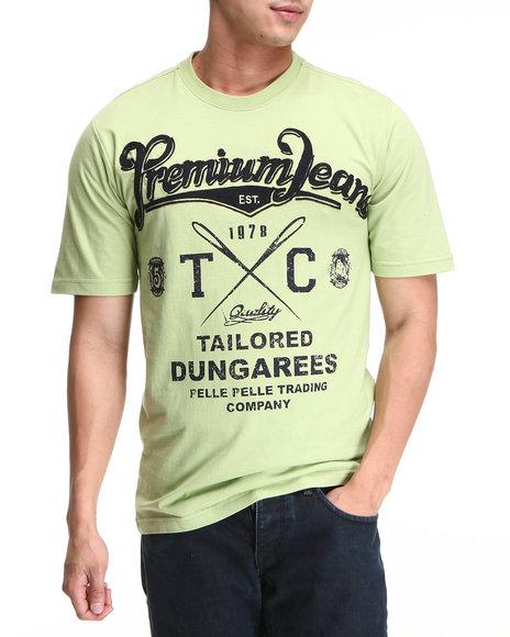 Pelle Pelle Lime Green S/S Premium Jeans Tee