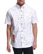 Men - Run The Map S/S Button-down