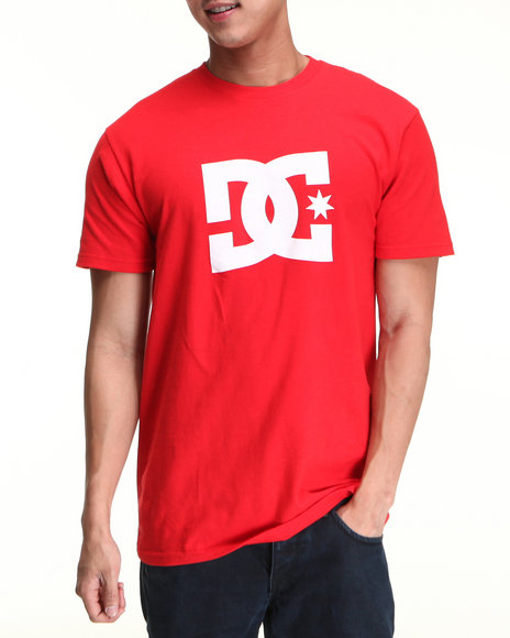 Dc Shoes Men Red Star Tee