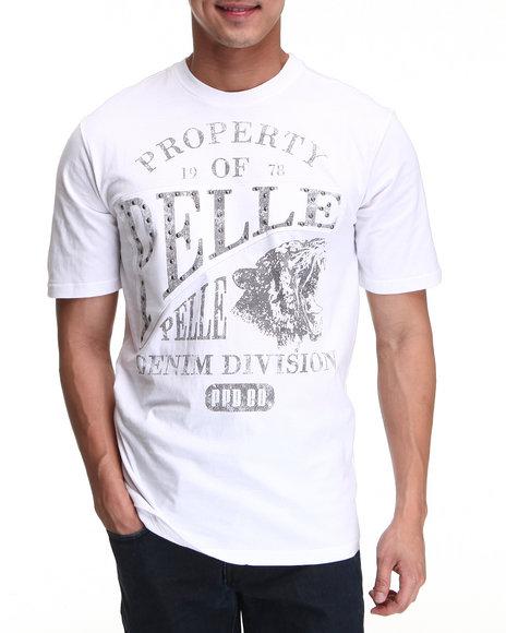 Pelle Pelle Men White S/S Pelle Denim Division Tee