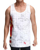 Men - Run The Map Tank Top