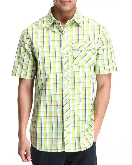 Rocawear Lime Green Sail S/S Button-Down