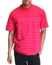 Shirts - Stripe S/S V-Neck Tee
