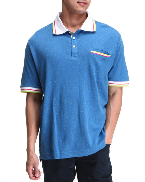 Rocawear Men Deck S/S Polo Blue Medium