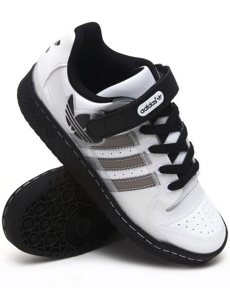 Adidas Boys White Forum Lo Xl Sneakers J