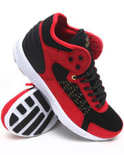 Supra - Owen Mid Red Microfiber/Black Mesh Sneakers