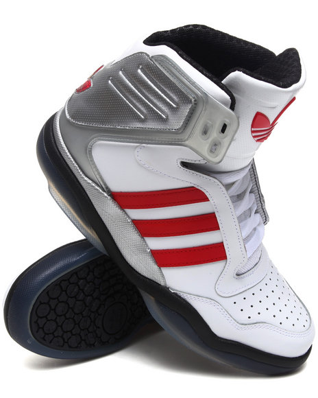 Adidas Men White Adidas Tech Street Mid Sneakers
