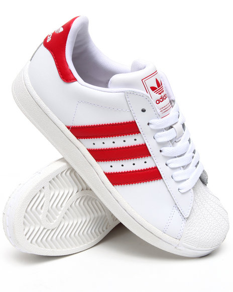 Adidas - Boys Crimson,White Superstar 2 J Sneakers