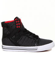 Supra - Skytop Black Nylon/Wax Suede Sneakers