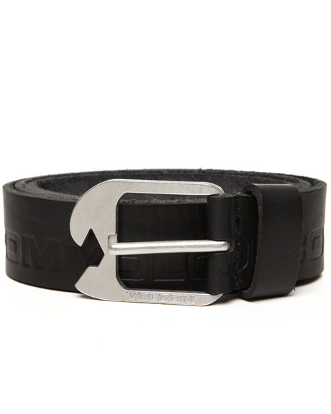 Volcom Men Black Leverage Belt