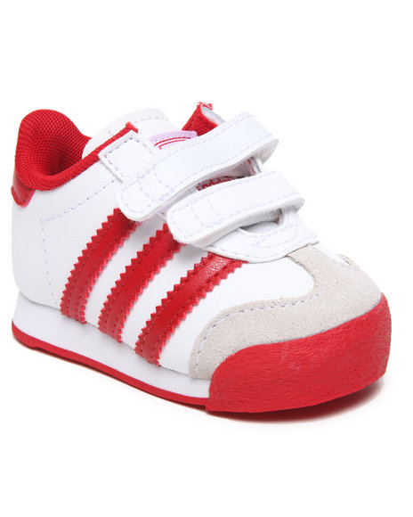 Adidas Boys Red,White Samoa Cf Inf Sneakers