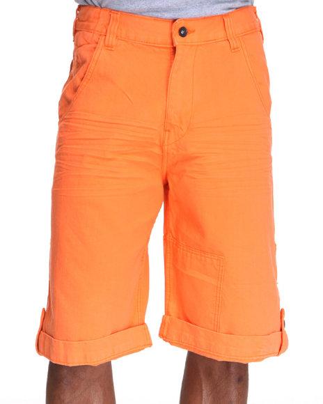 Rocawear Men Orange Colored Americano Denim Shorts