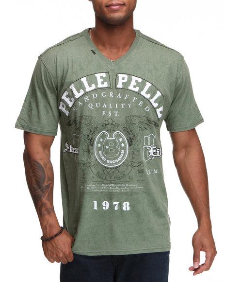 Pelle Pelle Men 78 SS VNeck Tee Green XLarge