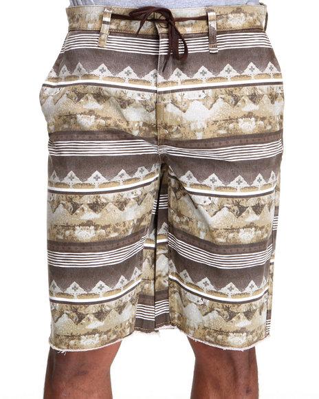 LRG Men Khaki Disorderlies True-Straight Short