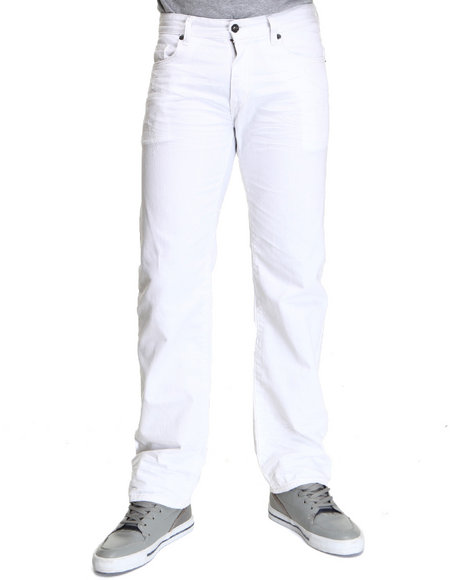 Rocawear Men White Navigator Straight Fit Jeans