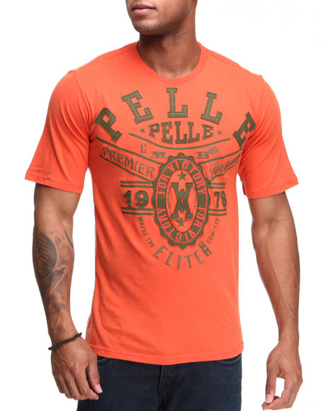 Pelle Pelle Men Orange Pelle Elite S/S Tee