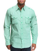 Shirts - Recon Military Epaulet Woven Shirt
