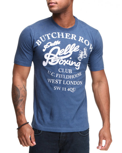 Pelle Pelle Men Blue S/S Butcher Row Tee