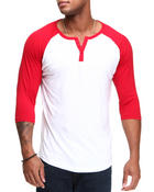 Buyers Picks - Single Jersey Baseball Henley 3/4 Sleeve Shirt
