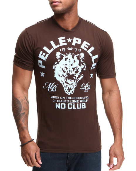 Pelle Pelle Men Brown S/S Wolf Crewneck Tee
