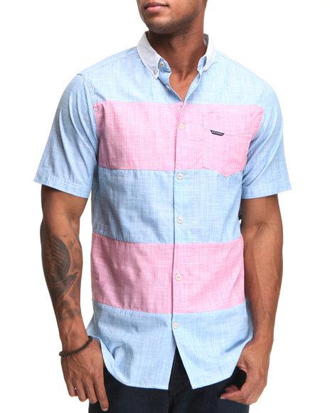 Rocawear Men Blue,Pink Cape S/S Button-Down