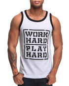 Men - Work Hard, Play Hard Tank top