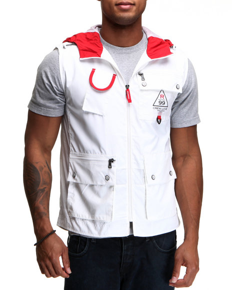 Rocawear Men Red,White Sonic Vest
