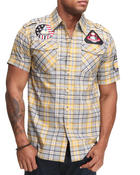 Buyers Picks - Raw Blue Patch Scotch Short Sleeve Woven Shirt
