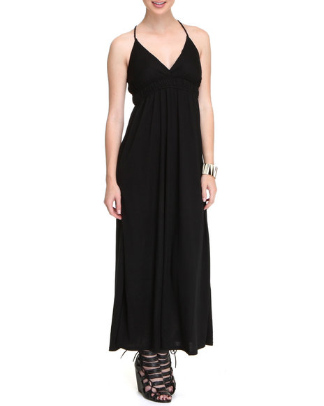 Basic Essentials Women Black 18-Th Hole Dress