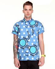 -FEATURES- - Bouncing Ball Button Down S/S Shirt