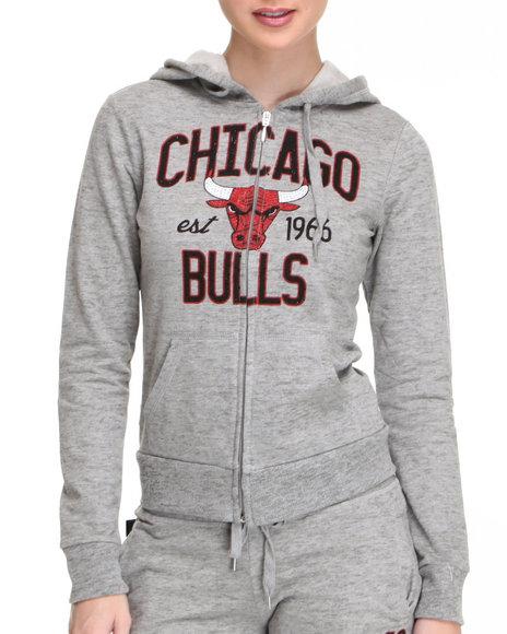 NBA MLB NFL Gear Grey Chicago Bulls Hoodie