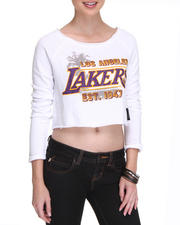 NBA MLB NFL Gear - LA Lakers Front Court Crop top Pullover