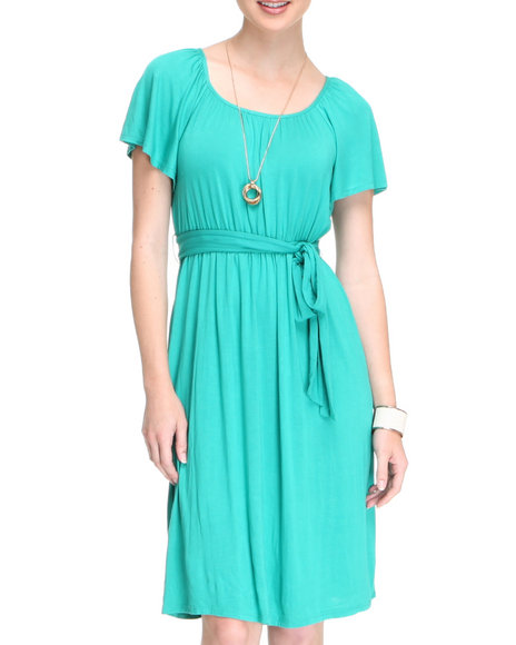 Basic Essentials Women Teal Lay Dress