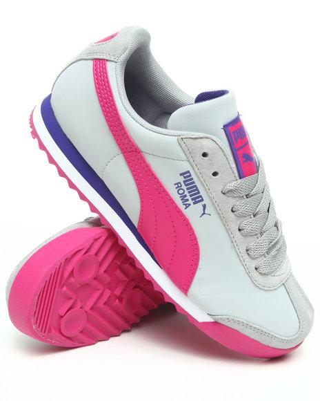 Puma Women Dark Pink,Grey Roma L Nbk Wns Sneakers