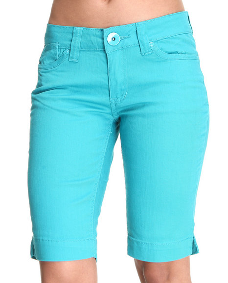 Basic Essentials Women Blue Lanya Bermuda Shorts