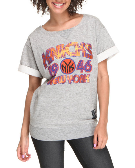 NBA MLB NFL Gear Grey New York Knicks Top
