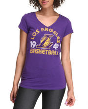 NBA MLB NFL Gear - V-neck Los Angeles Basketball Tee