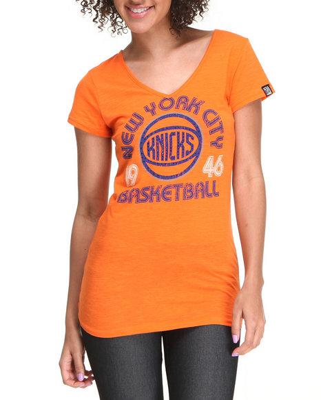 NBA MLB NFL Gear Orange New York City Basketball Tee