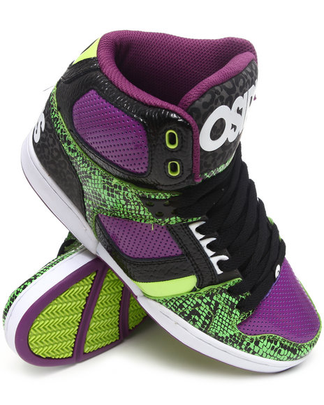Osiris - Men Lime Green,Animal Print,Purple Nyc 83 Sneakers - $40.99