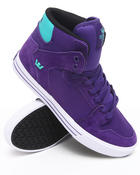 Footwear - Vaider Purple Suede/Canvas Sneakers